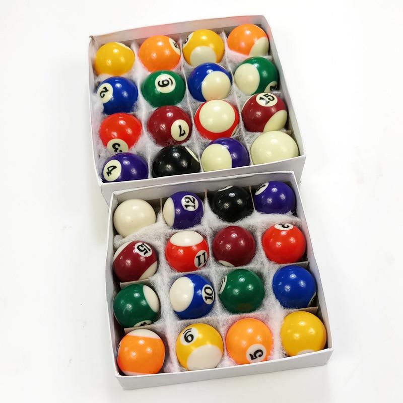 38MM Kinder Billard Tischkugeln Set Mini Billard Ball Spielzeug Pool Balls Spa/ß Spiel Professionelle 25MM 16 St/ück//Set Harz Billardkugeln 32MM