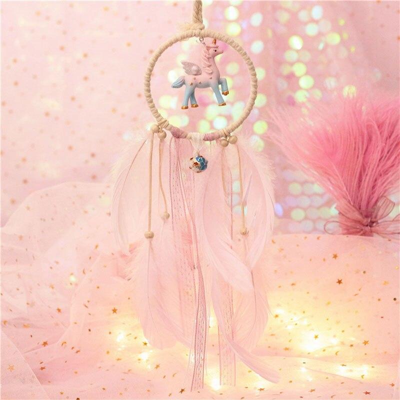 Lighting Pastel Unicorn Dreamcatcher