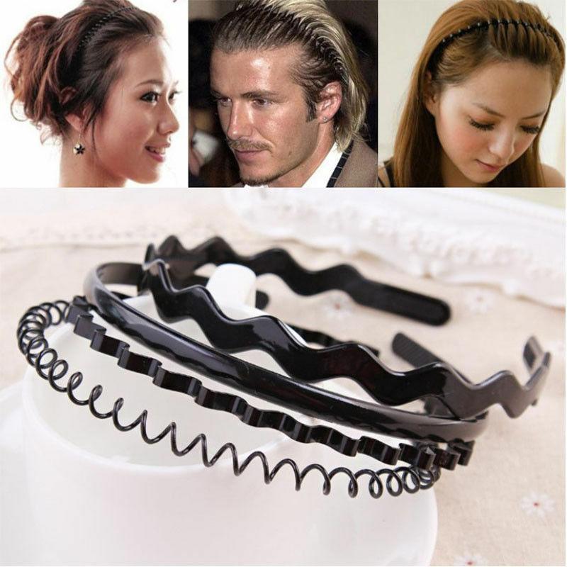 Unisex Sports Wave Grip Metal Hairband Headband Headwear Iron Wire Hair Band