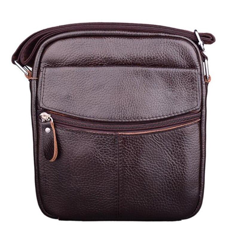 High Quality Leather Men's Messenger Bag Crossbody Large Capacity Solid Men Bag Handsome Shoulder Bag