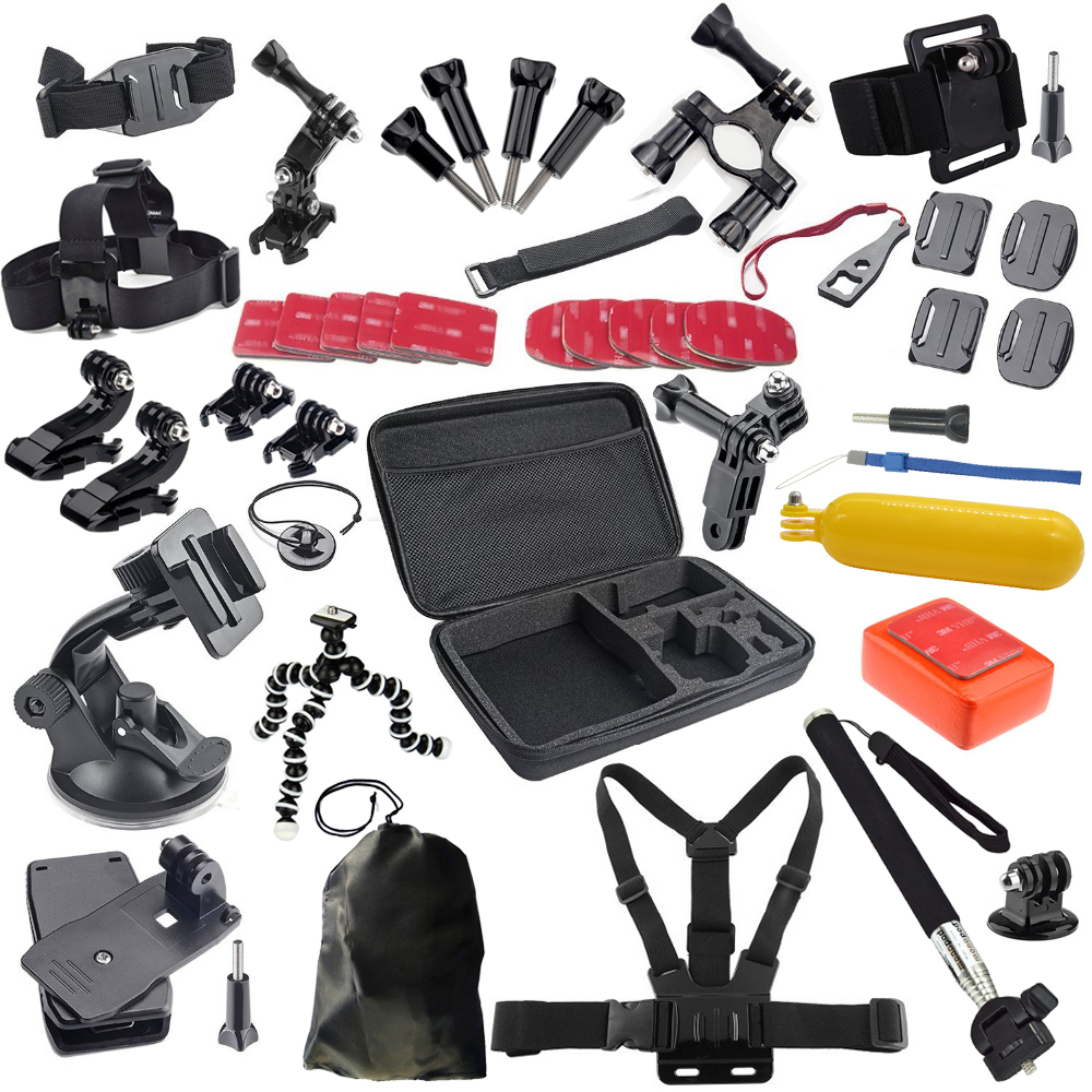 go pro accessories set accessories kit for xiaomi yi gopro mount hero3 Black Edition gopro hero 5 4 3 3+ 2 sjcam sj5000 H9 eken for gopro hero 4 gopro hero3 accessories kit xiaomi yi accessories for gopro sjcam xiao yi 4k action cam camera bag bike mount