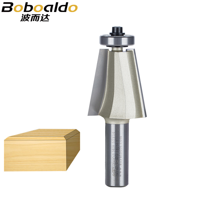 цена на 1Pcs 1/2 Shank Chamfer Bevel Edging Router Bit woodworking cutter woodworking bits Chamfer Edge Bevel Bits Arden Router Bit