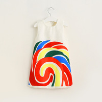 Baby Girl Rainbow Dress Vest Clothing 2017 Spring New Children S Clothes European And American Style
