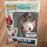 Amazon Exclusive FUNKO POP Official Moana Pua & Hei Hei Vinyl Action Figure Collectible Model Toy with Original Box