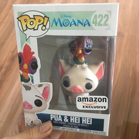Amazon Exclusive FUNKO POP Official Moana Pua & Hei Hei Vinyl Action Figure Collectible Model Toy with Original Box