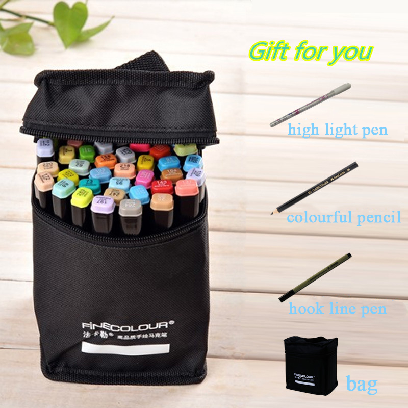 Finecolour EF102 Double-headed Soft Brush Professional Sketch Drawing Art Markers Pen