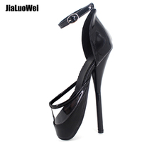 Plus size Sexy Fetish 7 High Thin Heel Ballet pumps Ladies Shoes Women Shoes Sandles Zapatos Mujer party Sandals Unisex