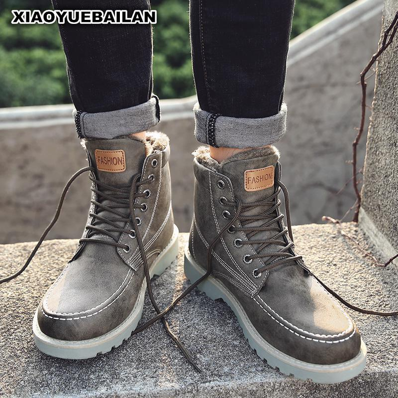 New Fashion Mens Boots In Autumn And Winter High Thick Warm Shoes Male Snow boots ...