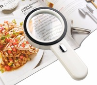 LED Lighted Magnifying Glass - 20X Handheld Reading Loupe Magnifier with 12 LED