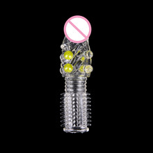 1pc Cock Ring Male Stimulation Reusable Condoms Sex Products for Men Penis Sleeve Extension Adult Sex Toys Jugetes Eroticos