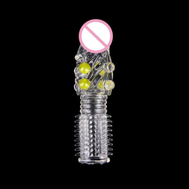 Condones PRODUCTOS DE SEXO reutilizables para estimulación de gallo anillo macho, extensión de manga de pene, Juguetes sexuales para adultos, eróticos, 1 unidad