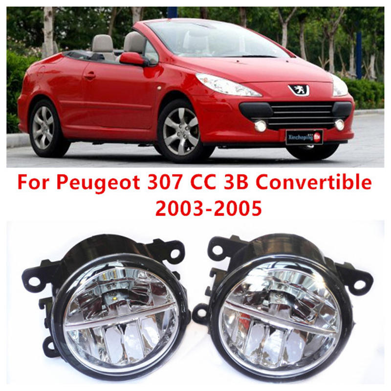 For Peugeot 307 CC 3B Convertible  2003-2005 Fog Lamps LED Car Styling 10W Yellow White 2016 new lights