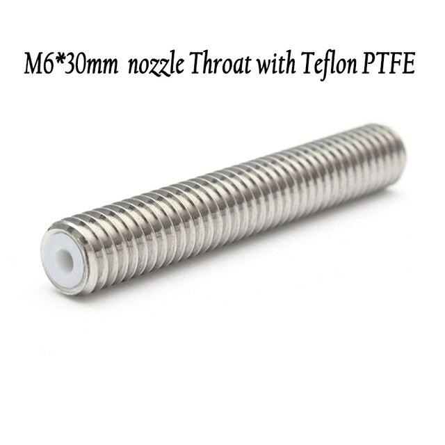 5pcs M6*30mm/40mm nozzle Throat Heatbreak with Teflon PTFE for A8 A6 MK8 extruder 1.75mm prusa 3D Printer part accessories