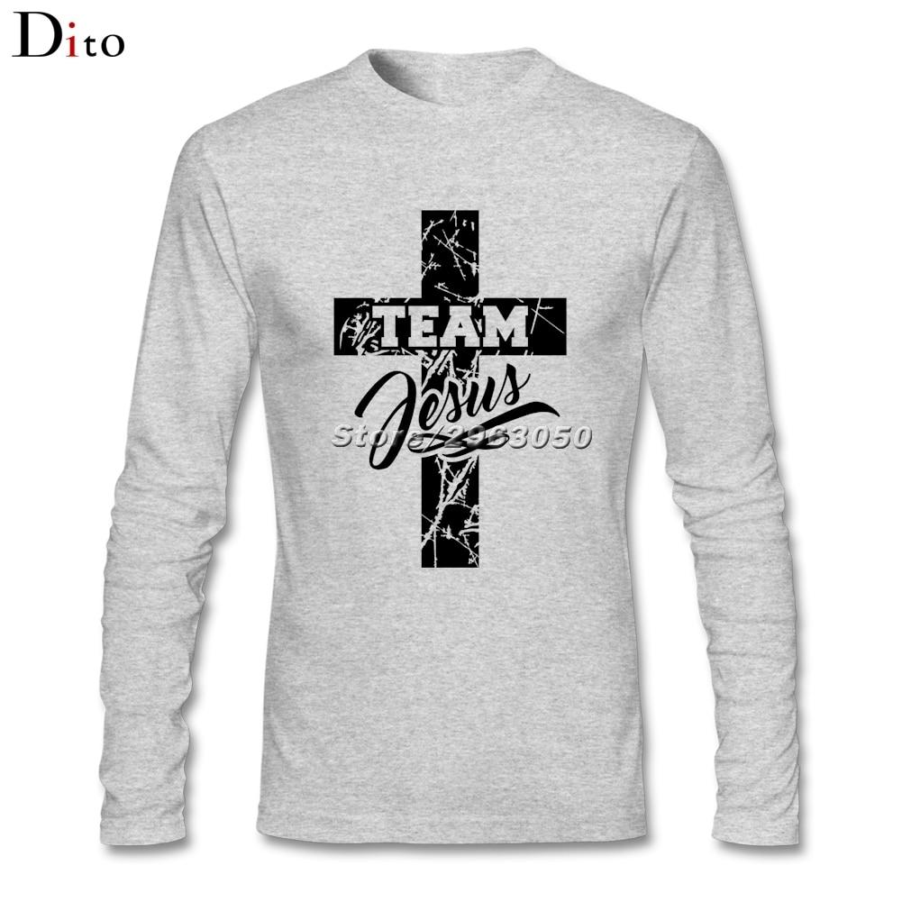 Team jesus christian cross men man 39 s base tee shirt design for Long sleeve t shirts design