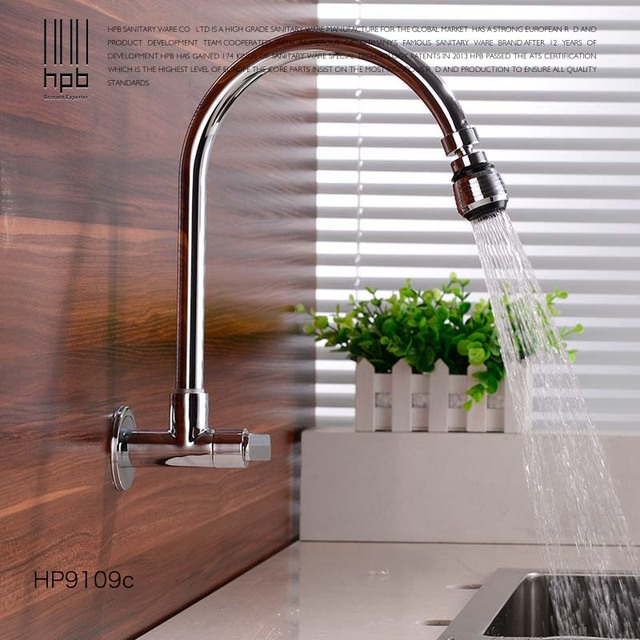 HPB Kitchen Mixer Tap Kitchen Faucet Sink Mixer Tap Faucet Single Handle Single  Hole Wall Mounted