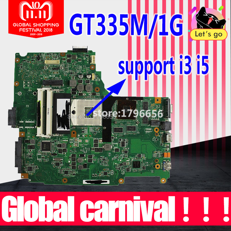 N61JV Motherboard REV:2.0 1GB For ASUS N61J N61JV N61JQ N61JA laptop Motherboard N61JV Mainboard N61JV Motherboard test 100% OK