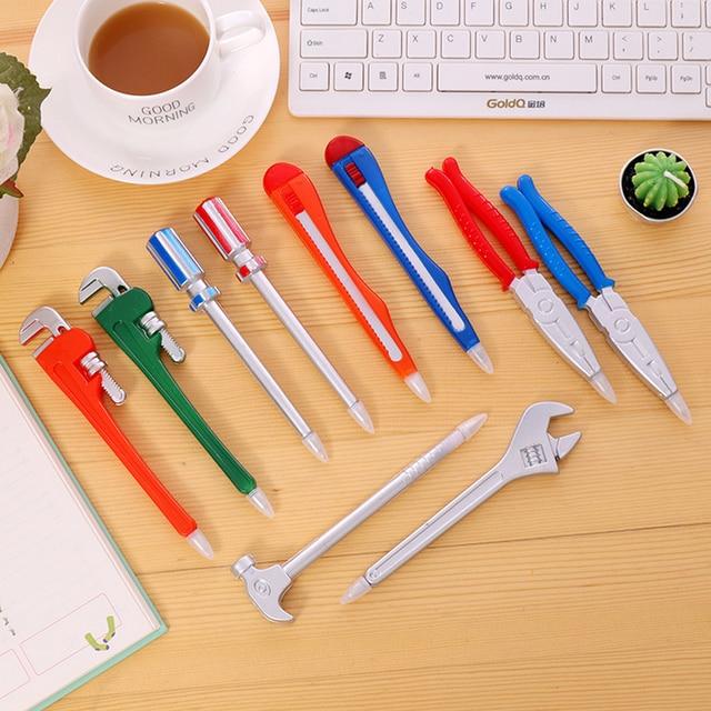 Ball Pens Simulation Hardware Tools Vise Hand Knife Hammer Pistol Modelling Ballpoint Pen Student Learning Prizes Gift 1PCS 2