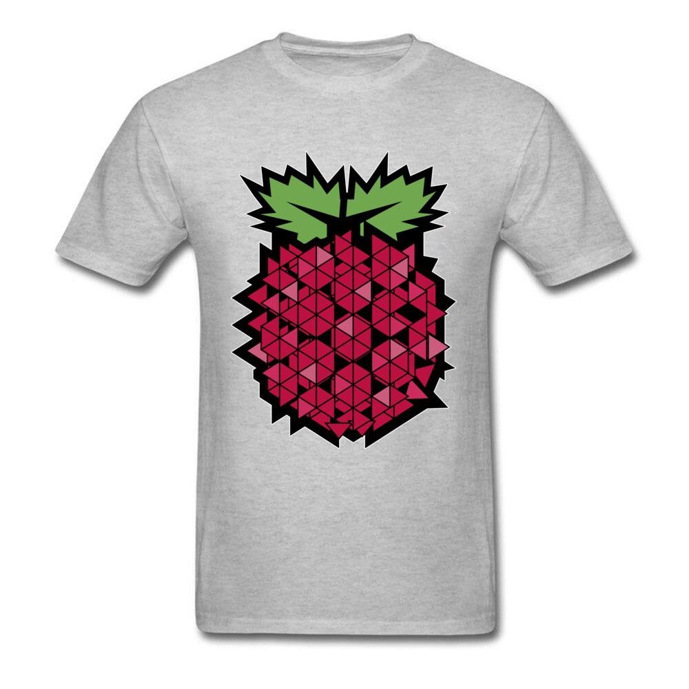 Tops T Shirt Tops & Tees 3D Printed Summer Autumn Short Sleeve 100% Cotton Fabric Round Neck Men's T-shirts Casual New Fashion Geometric raspberry  fruit food art grey