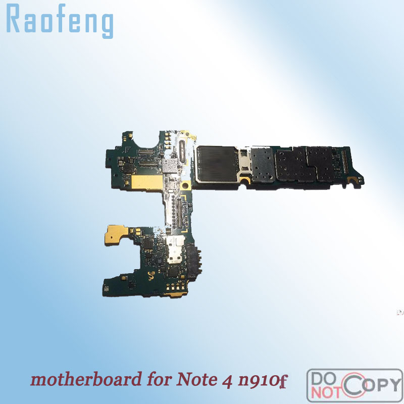 Raofeng unlocked for Samsung galaxy note 4 n910f motherboard  Disassembled high quality EU version  Logic Board with full chips(China)