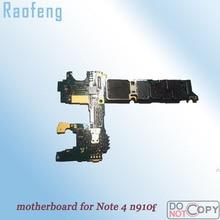 Raofeng разблокирована для samsung galaxy note 4 n910f материнская плата в разобранном виде высокое качество версия ЕС логическая плата с полными чипами