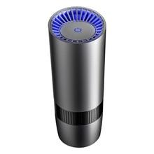 цена Mini Portable Intelliget Car Air Purifier USB HEPA Fresh Air Negative Ion Cleaner Oxygen Removes PM2.5 Smoke Odors Black онлайн в 2017 году