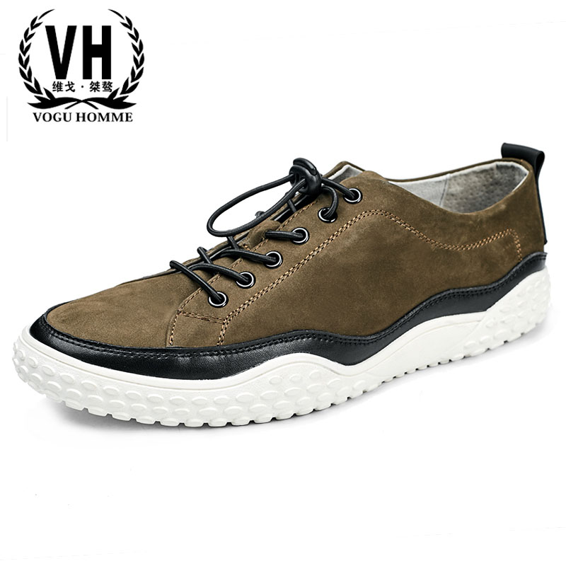 Men's shoes spring British trend men casual real leather shoes men lace youth spring and autumn all-match cowhide breathable spring autumn casual men s shoes fashion breathable white shoes men flat youth trendy sneakers