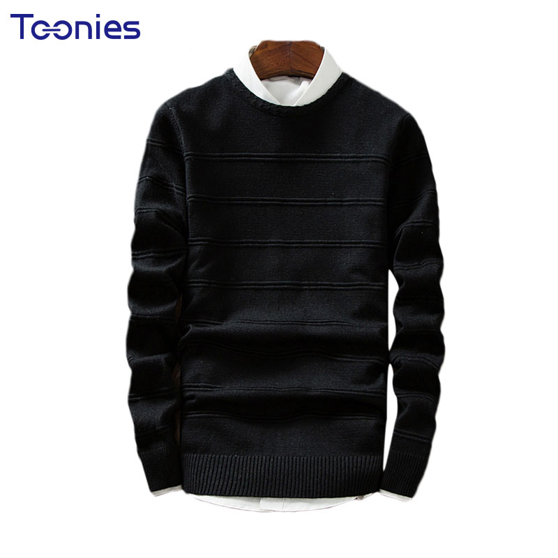 New Fashion Men s Sweaters Casual Solid O neck Male s Pullovers Long Sleeve Soft Special