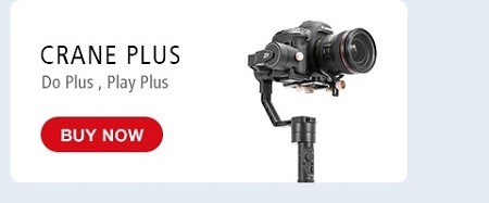 ZHIYUN Official Crane Plus 3-Axis Handheld Gimbal Stabilizer for Mirrorless DSLR Camera Support 2.5KG POV Mode22