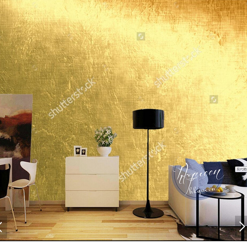 custom foto behang gold metallic moderne. Black Bedroom Furniture Sets. Home Design Ideas