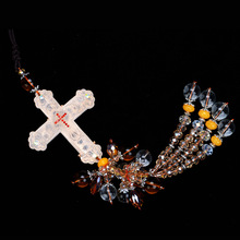 Natural church lazurite pendants of rearview mirror ornaments are car interior decoration supplies cross religious style