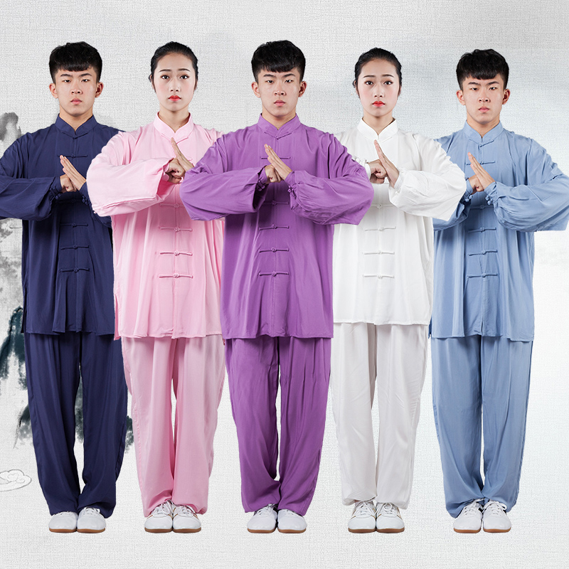 Spring Men Martial Arts Kung Fu Uniforms Chinese Traditional Modal Loose Unisex Womrn Martial Arts Tai Chi Meditation Suit Wear