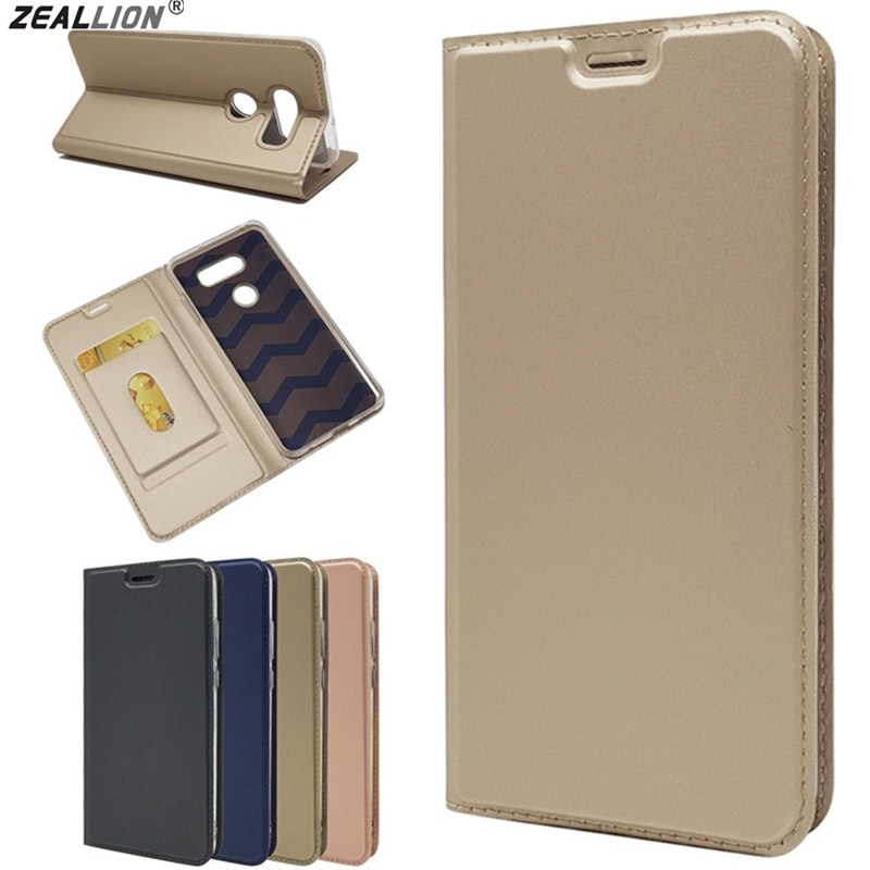 ZEALLION For <font><b>LG</b></font> G6 G7 Q6 Q8 V20 <font><b>V30</b></font> Luxury Slim Magnetic Voltage PU Leather <font><b>Card</b></font> Slot Flip Stand <font><b>Case</b></font> Cover image