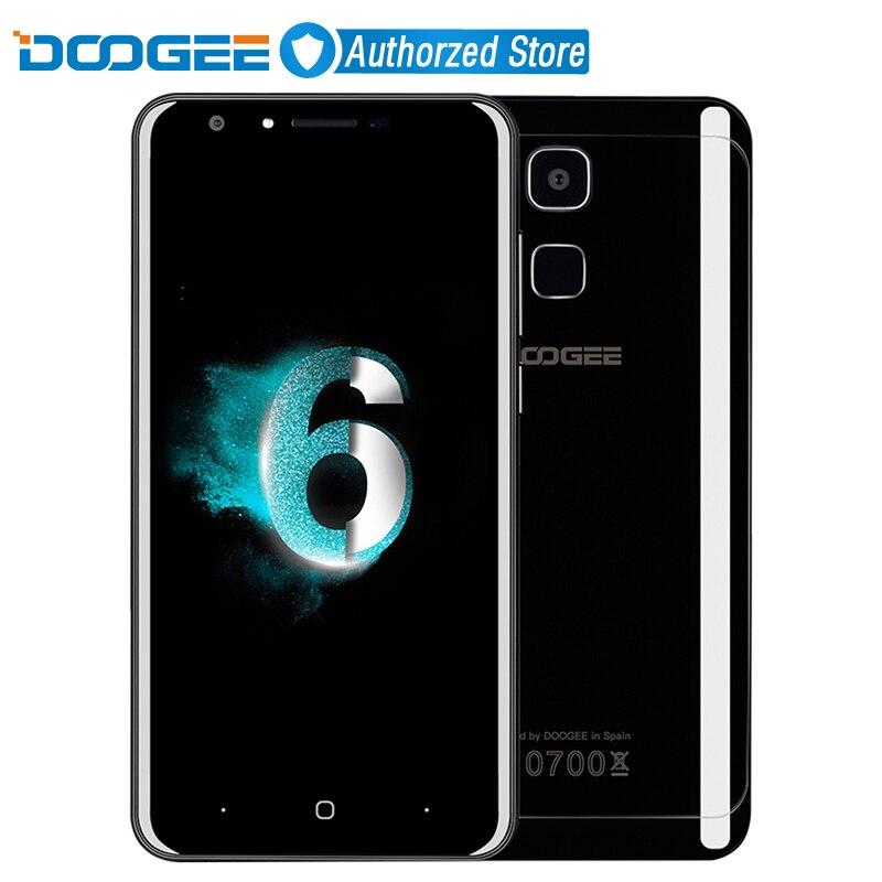 Цена за Doogee y6 piano black 4 г мобильный телефон 5.5 дюймов hd mtk6750 Octa Ядро Android 6.0 4 ГБ RAM 64 ГБ ROM 13MP Отпечатков Пальцев ID смартфон