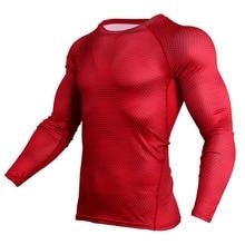 Camiseta de compresión hombres azul 3D T camisa Fitness culturismo camiseta  de Crossfit Top Tees MMA lycra Hombre Ropa deportiva 52bc73fda3559