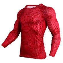 Camiseta de compresión hombres azul 3D T camisa Fitness culturismo camiseta  de Crossfit Top Tees MMA lycra Hombre Ropa deportiva a14d3e0bb0cf1