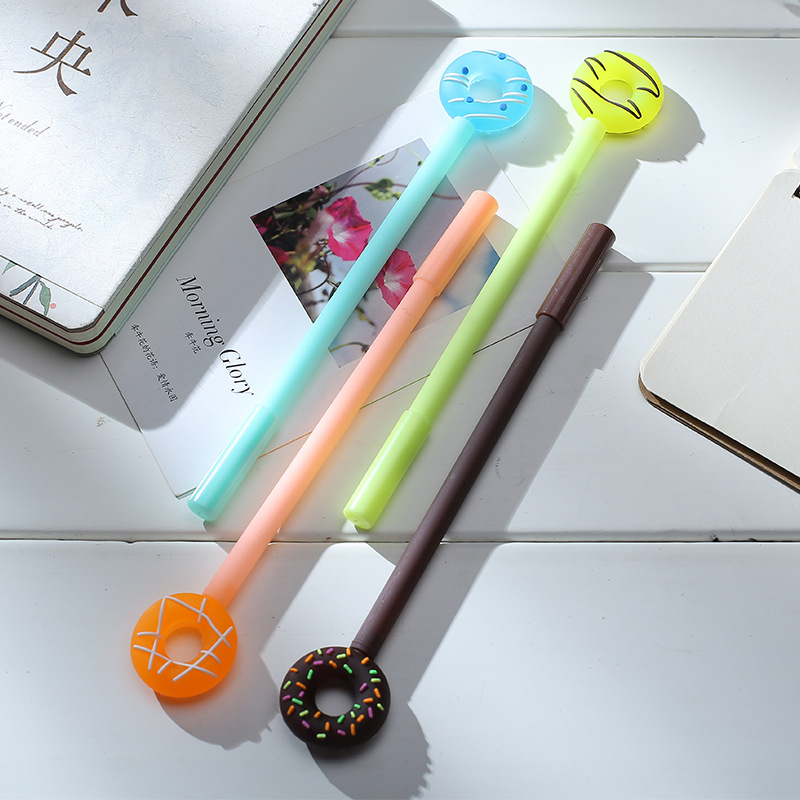 1 pc 0.38mm Cute Kawaii Donuts Gel Pens Lovely Candy Color Pen For Kids Stationery Gift School Supplies