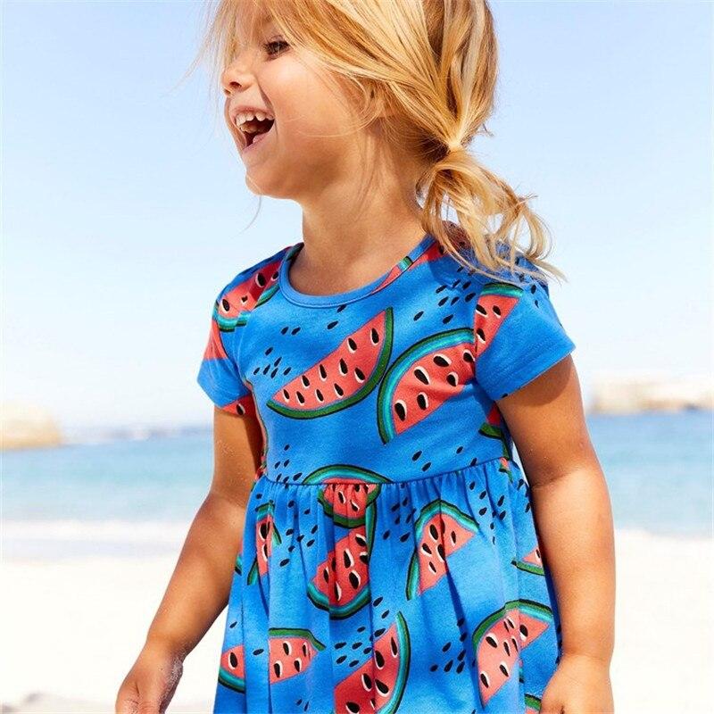 Jumping meters Princess kids clothing dresses girls summer all printed watermelan 2018 children clothes tunic tutu dresses girl