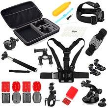 SHOOT Cycling Helmet Mount Accessories Set Head Chest Strap Monopod For Go Pro Hero 5 4 3 SJCAM Xiaomi Yi 4k Xiaoyi Eken Camera