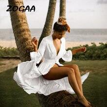 Женское пляжное платье макси размера плюс длинное и туника летний