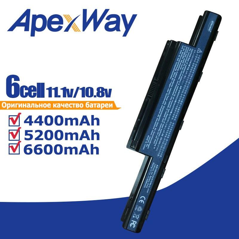 ApexWay Laptop Battery for Acer Aspire E1 V3 Series  E1 431 E1 471 V3 471G V3 771G E1 421 E1 531 E1 571 V3 551G V3 571G|battery for acer aspire|battery for acer|4400mah battery - title=