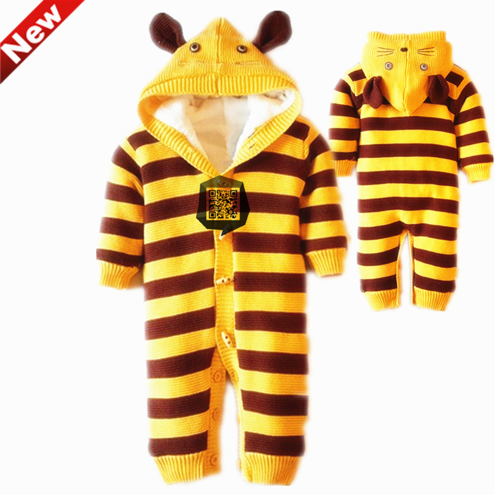 Winter Christmas Newborn Overalls Baby Jumpsuit Romper Unisex Toddler Coveralls For Boy Girl Warm Clothes 6-18 motnths puseky 2017 infant romper baby boys girls jumpsuit newborn bebe clothing hooded toddler baby clothes cute panda romper costumes