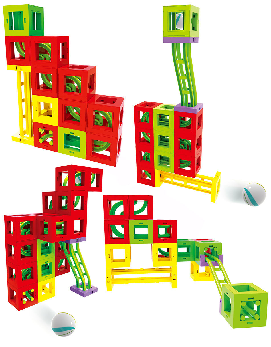12 magnetic blocks building