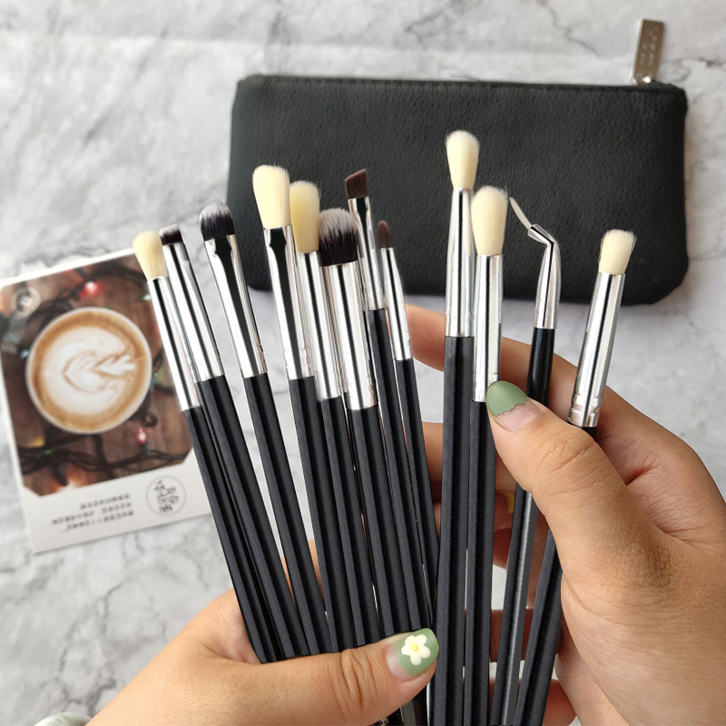 CHMAKE 12pcs Eyeshadow Makeup Brushes Set Professional Eyebrow Eyeliner Eye Shadow Blending Make Up Brushes Synthetic Hair in Eye Shadow Applicator from Beauty Health