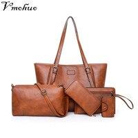 facb25f47 VMOHUO Retro Women Bag Set Luxury Handbags Designer Crossbody Bags For  Women Leather Shoulder Messenger Bag. VMOHUO Retro Mulheres Conjunto de Saco  Bolsas ...