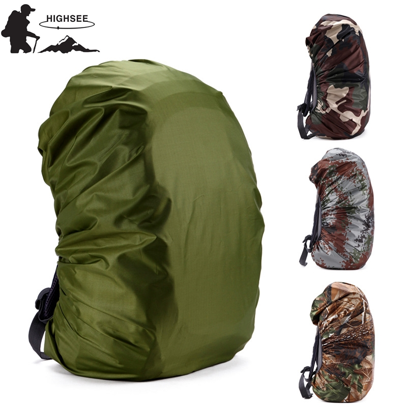 HIGHSEE 35L-80L Waterproof Backpack Rain Cover For Back Pack Travel Hiking Camping Outdoor Raincover Bag Rain Cover Backpack 50L