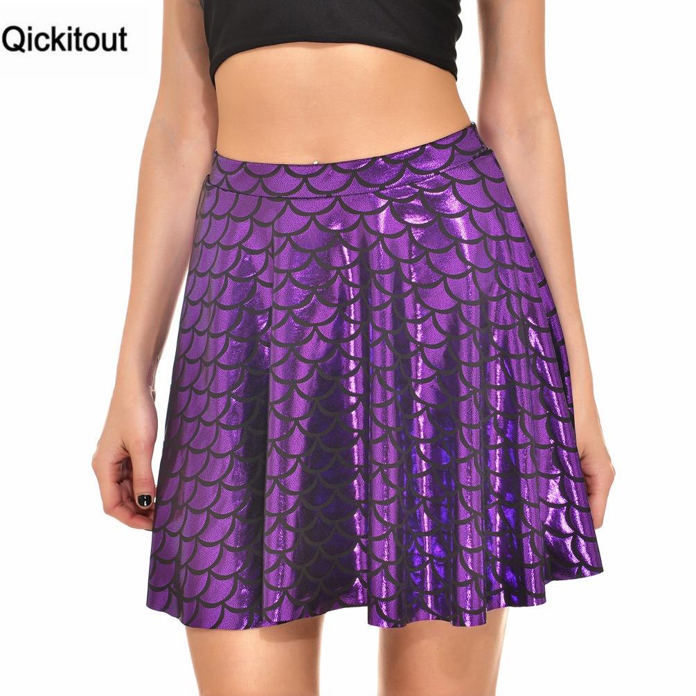 Qickitout Skirts 2016 Summer Mermaid Scales Women Skirt -6760