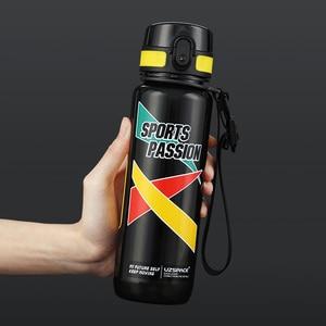 Image 4 - UZSPACE 스포츠 물병 대용량 남성 휴대용 크리 에이 티브 트렌드 주전자 야외 피트니스 공간 플라스틱 병 BPA 무료