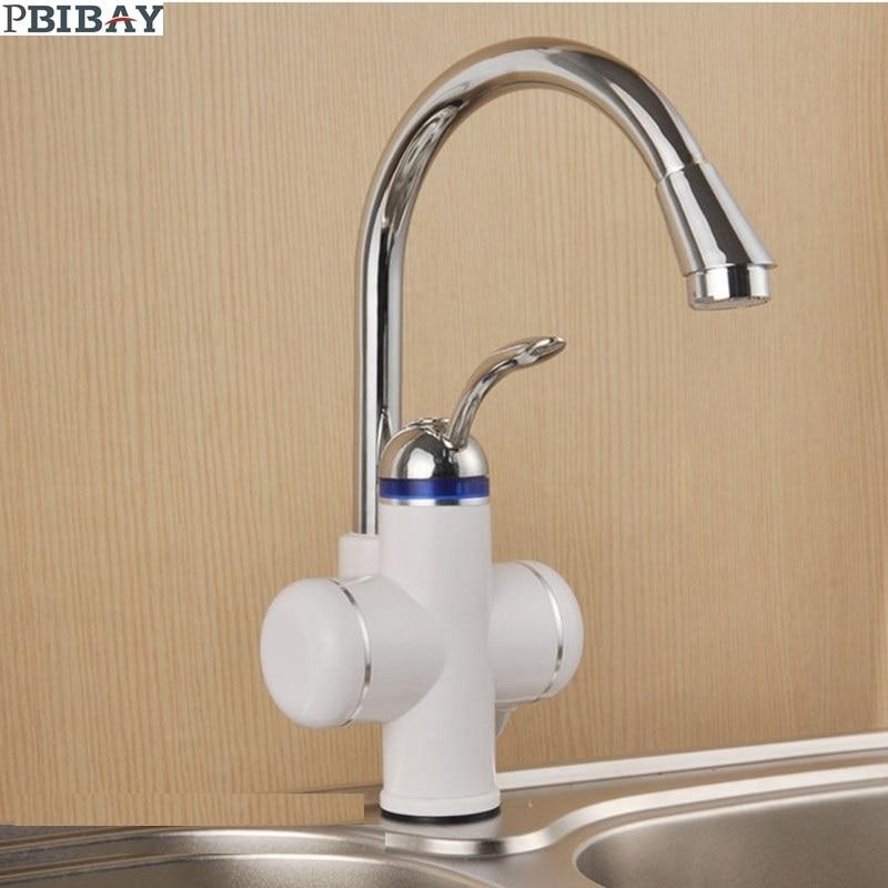 W818-2,3000W Instant Hot Water Faucet,Electric Instant Water Heater,Tap Kitchen Electric Hot Water Tap,Heating Faucet EU Plug