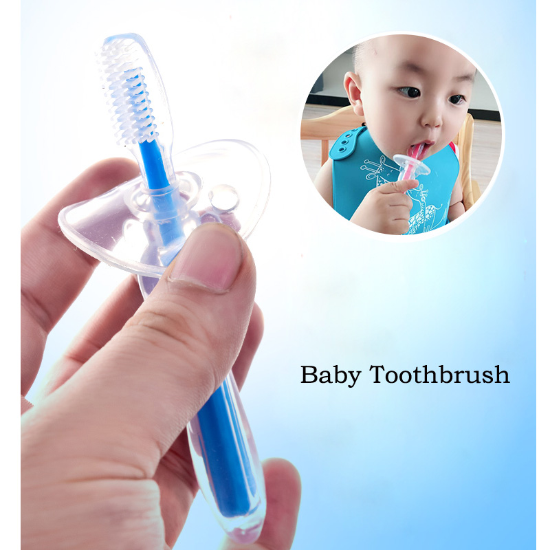 1pc Baby Infants Kids Soft Safe Bendable Teether Training Teeth Toothbrush Brush New For Children Baby Infant Newborn Brush Tool