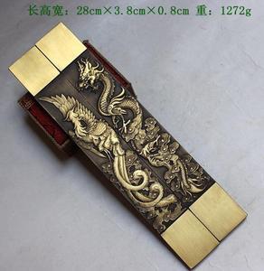Image 5 - Statue du grand dragon et du phénix chinois, Rare Collections, poids en papier en cuivre